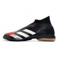 Adidas Preator Mutator 20+ IN Laceless Football Boots Black White Red