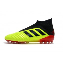 Adidas Predator 18+AG Laceless Football Boots Yellow Black Red
