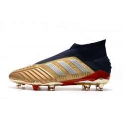 Adidas Predator 19+ FG Laceless Football Boots 25th Anniversary Golden Silver Black
