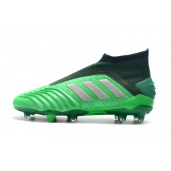 Adidas Predator 19+ FG Laceless Football Boots 25th AnnivLacelessersary Green Black