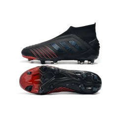 Adidas Predator 19+ FG Laceless Football Boots Archetic 25th Anniversary Black Blue Red