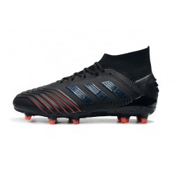 Adidas Predator 19+ FG Laceless Football Boots Archetic 25th Anniversary Black Red Blue