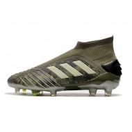 Adidas Predator 19+ FG Laceless Football Boots Army Green