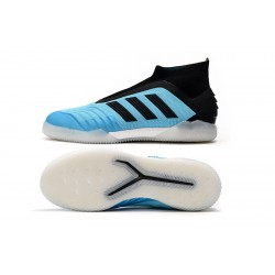 Adidas Predator 19+ IN Laceless Football Boots Blue Black