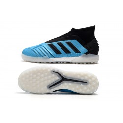 Adidas Predator 19+ TF Laceless Football Boots Blue Black