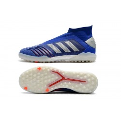 Adidas Predator 19+ TF Lacele ssFootball Boots Blue Silver