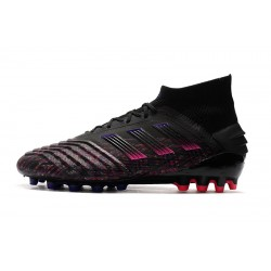 Adidas Predator 19.1 AG Football Boots Black Pink Blue