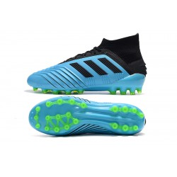 Adidas Predator 19.1 AG Football Boots Blue Black