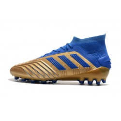 Adidas Predator 19.1 AG Football Boots Golden Blue