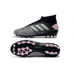 Adidas Predator 19.1 AG Football Boots Grey Black Pink