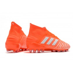 Adidas Predator 19.1 AG Football Boots Orange Silver