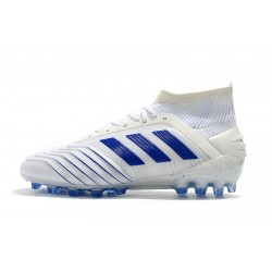Adidas Predator 19.1 AG Football Boots White Blue