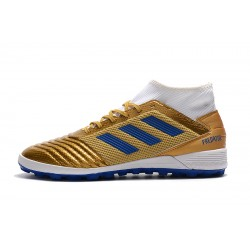 Adidas Predator 19.3 TF Football Boots Golden Blue White