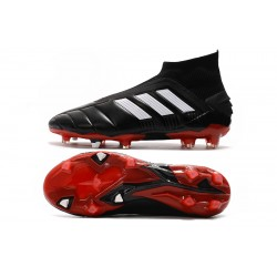 Adidas Predator Mania 19+ FG Laceless Football Boots Black White Red