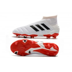 Adidas Predator Mania 19+ FG Laceless Football Boots White Black Red