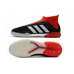 Adidas Predator Tango 18+ IC Laceless Football Boots Black White Red