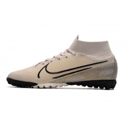 2020 Nike Mercurial Superfly 7 Elite MDS TF Flyknit Football Boots Cream