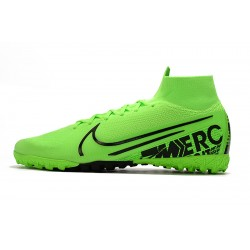 2020 Nike Mercurial Superfly 7 Elite MDS TF Flyknit Football Boots Green