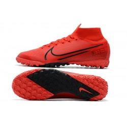 2020 Nike Mercurial Superfly 7 Elite MDS TF Flyknit Football Boots Red