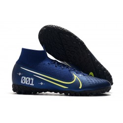2020 Nike Mercurial Superfly 7 Elite MDS TF Flyknit Football Boots Royal Blue