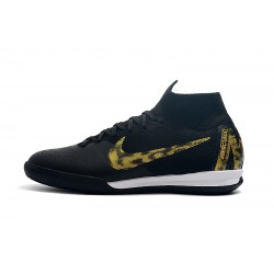 NIke SuperflyX 6 Elite IC Football Boots Black Golden