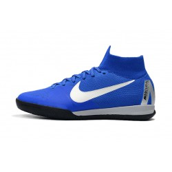 NIke SuperflyX 6 Elite IC Football Boots Blue White