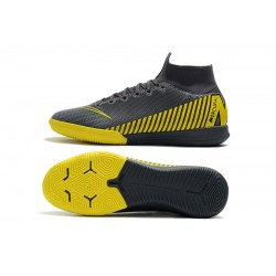 NIke SuperflyX 6 Elite IC Football Boots Dark Grey Yellow