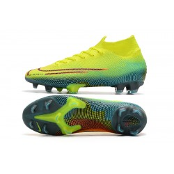 Nike Dream Speed 002 Mercurial Superfly 7 Elite FG Volt Green Orange Football Boots