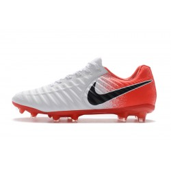 Nike Flyknit Tiempo Legend VII FG Football Boots White Red Black