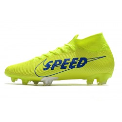 Nike Mercurial Superfly 7 Elite FG Football Boots Volt Green Blue