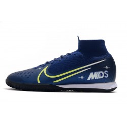 Nike Mercurial Superfly 7 Elite MDS IC Flyknit Football Boots Royal Blue