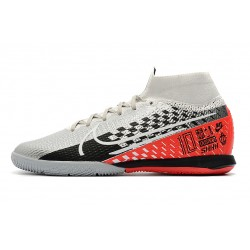 Nike Mercurial Superfly 7 Elite MDS IC Flyknit Football Boots Silver Orange