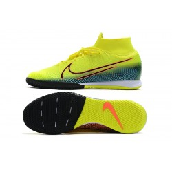 Nike Mercurial Superfly 7 Elite MDS IC Flyknit Football Boots Yellow Blue
