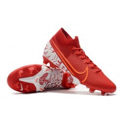 Nike Mercurial Superfly 7 Elite SE FG Football Boots Red White