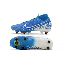 Nike Mercurial Superfly 7 Elite SG-PRO AC Flyknit 360 Football Boots Blue White