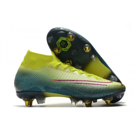 Nike Mercurial Superfly 7 Elite SG-PRO AC Flyknit 360 Football Boots Green
