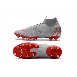 Nike Mercurial Superfly VI 360 Elite AG Football Boots Grey Red