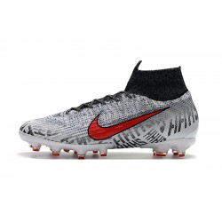 Nike Mercurial Superfly VI 360 Elite AG Football Boots Grey White Red