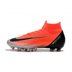 Nike Mercurial Superfly VI Elite CR7 AG Football Boots Red Silver