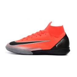 Nike Mercurial Superfly VI Flyknit 360 Elite CR7 IC MD Football Boots Orange