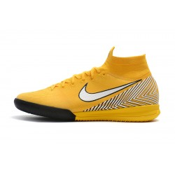 Nike Mercurial Superfly VI Flyknit 360 Elite Neymar IN Football Boots Yellow White