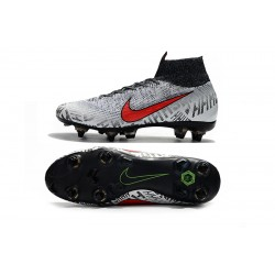 Nike Mercurial Superfly VI Flyknit 360 Elite SG Football Boots Silver