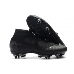 Nike Mercurial Superfly VI Flyknit Elite SG AC Football Boots All Black