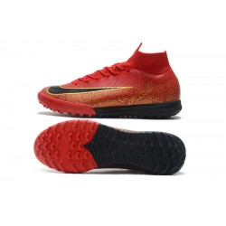 Nike Mercurial SuperflyX VI Elite CR7 TF Football Boots Red