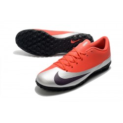 Nike Mercurial Vapor 13 Academy TF Football Boots Red Silver