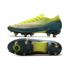 Nike Mercurial Vapor 13 Elite SG-PRO AC Football Boots Fluo Green Blue