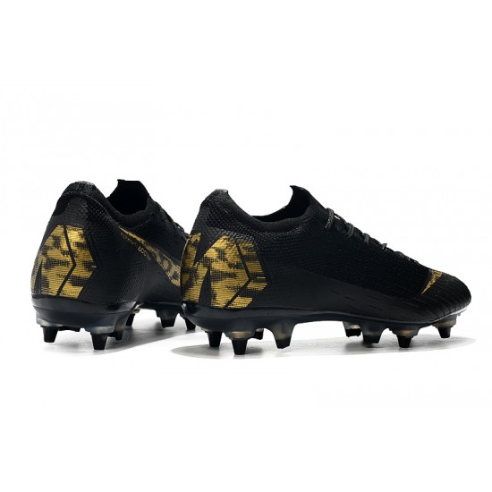 Nike Mercurial Vapor VII Elite SG AC Football Boots Black Golden