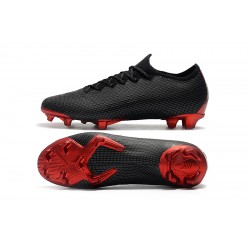 Nike Mercurial Vapor XII Elite FG Football Boots Black Red