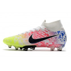 Nike Superfly VII Elite SE AG Football Boots White Pink Green