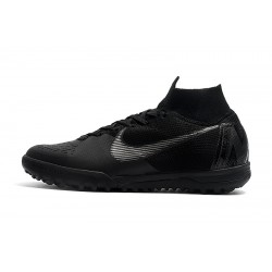 Nike SuperflyX 6 Elite TF Football Boots Black Silver